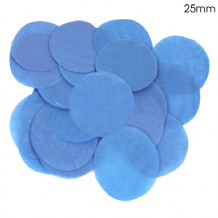 Blue Tissue Paper Confetti | 25mm Round | 100g Bag